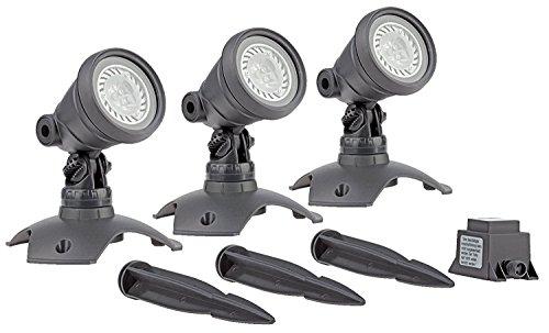 OASE 57035 LunAqua 3 LED Set 3 - Unterwasserbeleuchtung und Gartenbeleuchtung mit warmweißen Lichtakzenten, ideal für Gartenteich, Schwimmteich, Fischteich, Pool, Brunnen und Außenbereich