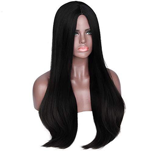 Paradise® Full Head Synthetic Women Wigs Straight Black Long Hair For Women/Women Wigs Natural Hair FREE 2 WIG CAP +CARRY POUCH