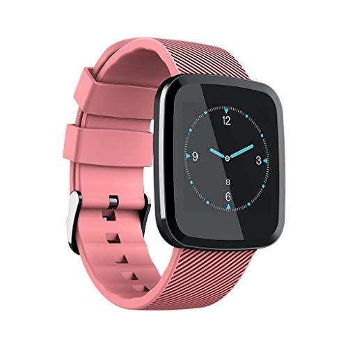 Glemfox Fitnesstracker, hartslagfrequentie, fitness-armband, smartwatch, activiteitentracker, hartslagfrequentie, bloeddruk, smart-armband, calorieënteller, dames en heren roze
