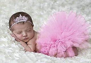 47276a3b768b7 iKulilky Bébé Fille Tutu Robe jupe Pettiskirt Costume Photographie Prop  Outfits+ Bandeau Cheveux Dentelle Fleur Accessoire
