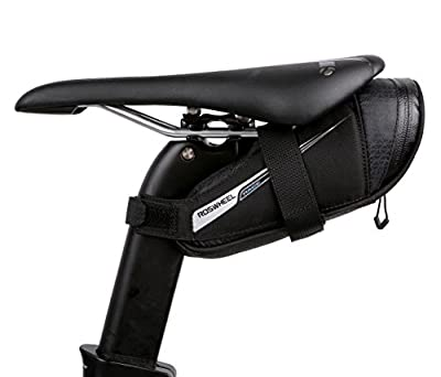 Roswheel Race Series 131432 Ultralight Bike Saddle Bag Bicycle Under Seat Pouch Cycling Wedge Pack for Road Bike, 0.6 Liter Capacity