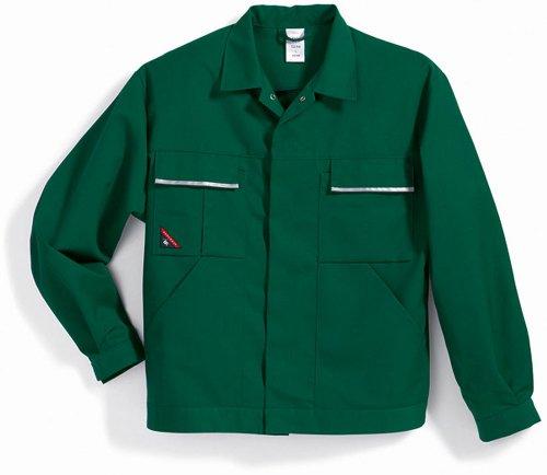 BP 1602-559-74-44/46n Arbeitsjacke, Verdecktes Druckknopfband und Taschen, 245,00 g/m² Stoffmischung, mittelgrün ,44/46n
