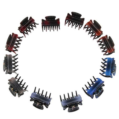 Bonarty 12 Pièces Résine Mini Griffes Cheveux Poignées Pince En Plastique Broches Broches Accessoires - Pente