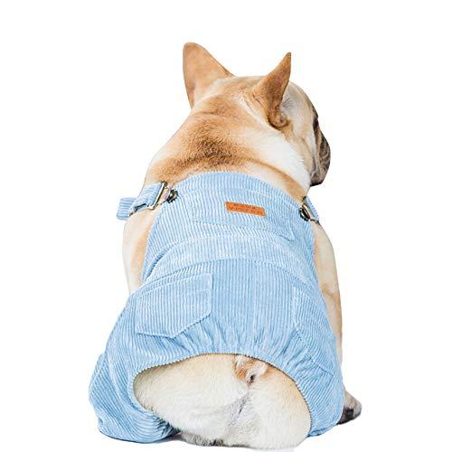 PAPIEEED Ropa de perro Vaqueros, ropa de perro, mamelucos de cachorro para perros pequeos, medianos y pequeos, trajes de moda para mascotas para invierno y otoo