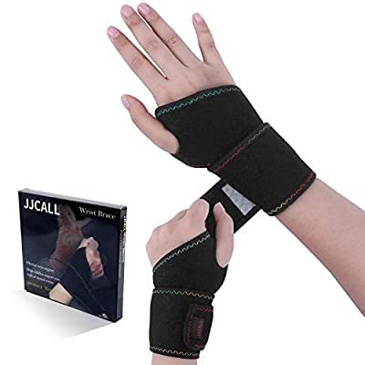 2Pack 2020 New Version Profession Wrist Support Brace, Adjustable Wrist Strap Reversible Wrist Brace for Sports Protecting/Tendonitis Pain Relief/Carpal Tunnel/Arthritis, Right&Left (WD-01)