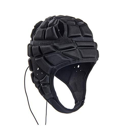 Soft Padded Headgear Soft Football Helmet Youth Kids Adults Soccer Rugby Kits Ultra-Thin Soft Protective Helmet Goalkeeper Adjustable 7v7 Head Fall Protector
