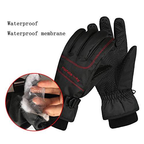 hdggzkm Waterdichte Ski Handschoenen Thermische Winter Snowboard Fietsen Sneeuwscooter Warm Handschoenen Hand Warmer Pocket 3M Geïsoleerd