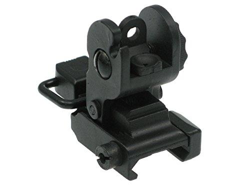 BEGADI Hinteres Flip Up Visier #1 für Airsoft M4 / M16 Modelle, bestehend aus Metall