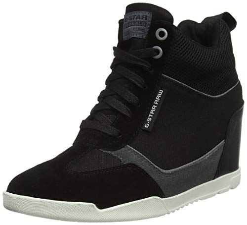 G-STAR RAW Damen Boxxa Wedge Sneaker, Schwarz (Black B700-990), 40 EU