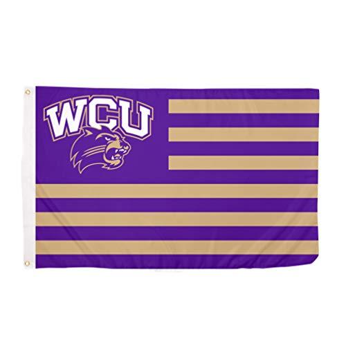 Western Carolina University WCU Catamounts 100% Polyester Indoor Outdoor 3 feet x 5 feet Flag (Nation)