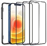 Cocoda 3 Pezzi Vetro Temperato Compatibile con iPhone 12 Mini, con Cornice Installazione, Durezza 9H, Antigraffio, Senza Bolle, Copertura Totale Pellicola