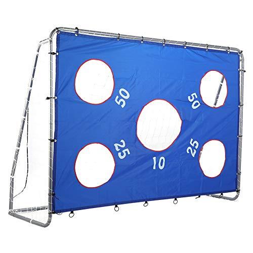 ZELUS Soccer Goal for Kids 8 x 6 ft, 2 in 1 Powder Coated Soccer Goal Frame with All Weather Net & Detachable Target Goal Net for improving Skills