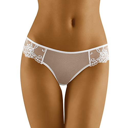 Wolbar Transparenter Damen String WB26, weiß,Medium