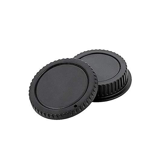 Cámara plástico Durable Tapa del Cuerpo Ligera Lente Tapa Trasera del Conjunto Compatible de la cámara Negro 2 PCS