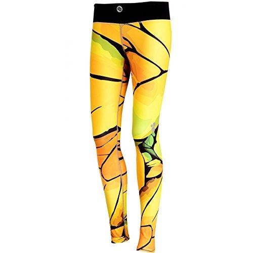 Nessi Collant de Course Sport Leggings Oslp Fitness poches de pantalon respirant 01 Yellow Twig 01 XXS/XS