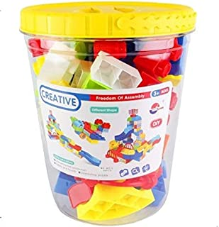 Building Block Set in a Bucket with 54 Pcs