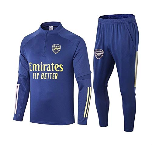 ZFmj Long Sleeve Jersey - Arsenal Football Training Tracksuit Adult Fitness Sportswear Suit Football Jacket and Pants (Color : Blue, CH : Large)