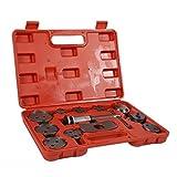 PR Herramienta Reparación 13PCS auto del coche de precisión de pinza de freno de disco del viento Volver Tool Kit Pastilla de freno Bomba de freno de pistón de coches (Color : Red)