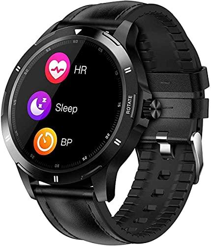 wyingj Reloj Inteligente Salud Y Fitness Smartwatch Monitor Rastreador De Sueño Alta Definición Pantalla Completa Táctil IP67 Impermeable Reloj Inteligente-C