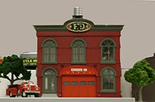 MTH O Scale Operating Firehouse, Engine CO Scale #49