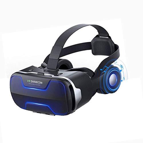 VR Auricular, 3D Virtual Reality Headset 120 ° Ángulo De Visión Amplia Inicio De Video En Samsung S10 / S9 / S8 / Plus/Nota 10/9/8, para iPhone 11 / X/X/MAX/XR / 8P / 7P / 6P