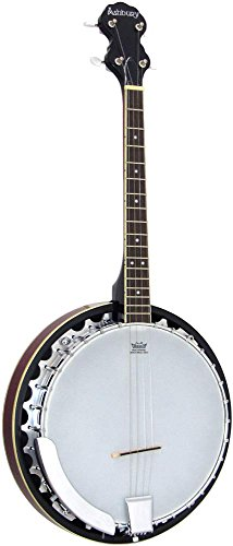 Ashbury Estuches y bolsos CBJ-35 escala / 4short AB-35TS Tenor Banjo - Natural