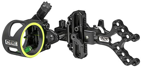 CBE Tactic Hybrid 1-Pin Bow Sight, Black, One Size (CBE-TCH-1-19)