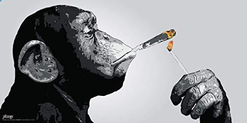 Culturenik Steez Monkey Smoking a Joint Decorative Music Urban Graffiti Art Print (Unframed 12x24 Poster)