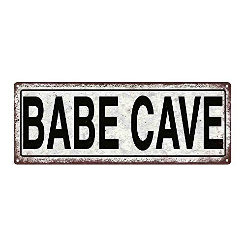PmseK Tin Sign 8X12 inches Babe Cave Metal Sign, She Shack, She Shed, Street Sign