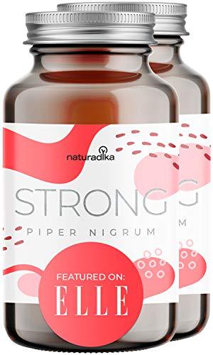 PIPER NIGRUM BRUCIASTRONG per donna e uomo | Triple azione fit&shape | Con Piperina, Capsimax, Guarana, Colina e Vitamina B3 | 30+30 capsule