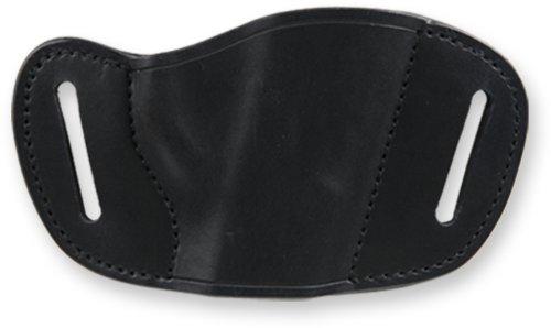 Bulldog Cases Black Molded Leather Belt Slide Holster (Large)