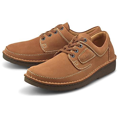 Clarks Herren Nature II Sneaker, Birch Tumbled Nubuck