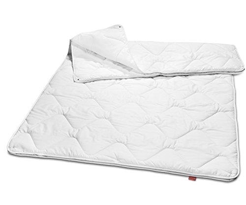 sleepling 190043 Basic 160 Bettdecke Mikrofaser 4-Jahreszeiten 155 x 220 cm, weiß