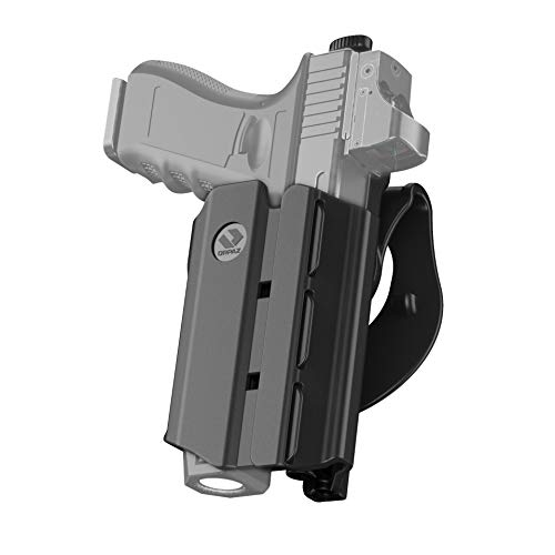 Orpaz S&W M&P Compact Holster with Light, S&W M&P 2.0 Compact Light Bearing Holster with Paddle Attachment Compatible with S&W M&P Compact Light/Laser/Sight/Optics
