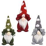 CHIHUOBANG 3 unids/set Navidad elfo decoración hecha a mano copo de nieve gnomo sueco Tomte muñeca adornos de juguete gracias dando regalos