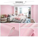 LZYMLA - Papel pintado autoadhesivo impermeable de PVC, autoadhesivo, color sólido, para sala de estar, dormitorio, habitación de los niños, fondo de pared, color rosa, macarón, 60 cm x 5 m