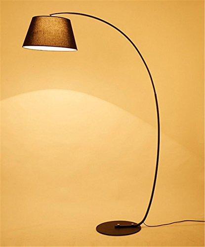 Lampadaire Lampadaire ARC chambre moderne lampe de sol salon de lecture noir ou blanc, A