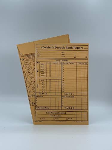 500 Cashier Depot MK960S Cashier's Drop & Bank Report Envelopes, 6