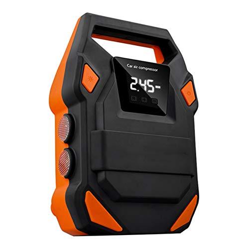 GMZS Inflador de neumático Digital, inflador de neumáticos de Rueda portátil Digital de 12V 150 PSI, Pantalla Digital y iluminación LED, para Bicicletas y Otros Equipos inflables