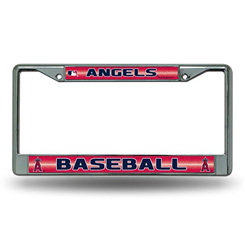 MLB Los Angeles Angels Bling Chrome Auto License Plate Frame