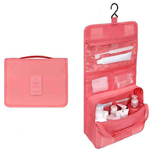 OYHBGK Femmes Voyage Cosmetic Bags Neceser Hanging Wash Bag Maquillage Fournitures Quotidiennes Suspendues Toilette Organisateur Sac Portable Make up Bags