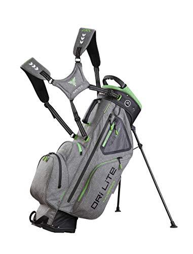 Big Max Dri Lite HYBRID Golf Cartbag & Standbag - Wasserabweisend - 2019 (Silber/Grün)