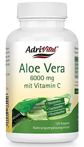 Adrivital Aloe Vera Barbadensis Miller mit Vitamin C, 120 Kapseln, vegan