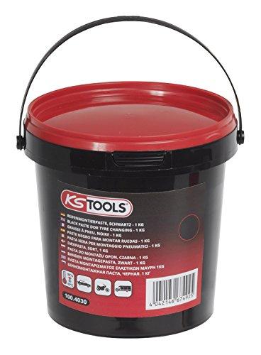 KS Tools Seau de graisse à pneu noire, 1Kg