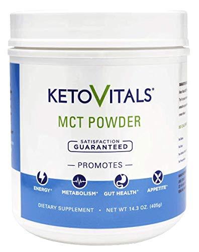 Keto Vitals MCT Powder - The Perfect Keto MCT Oil Powder! Healthy Prebiotic Fiber Will Keep You Full and deep in Ketosis!