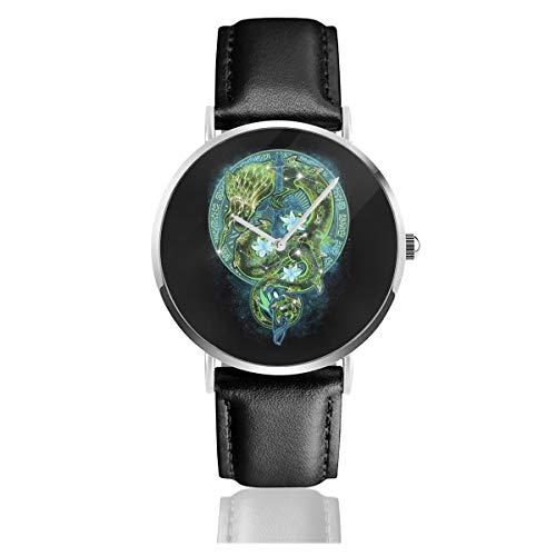 Unisex Business Casual Sternenhimmel Legend of Zelda Armbanduhr Quarz Leder mit schwarzem Lederband für Männer und Frauen Young Collection Geschenk