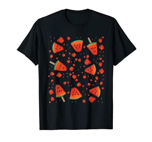 スイカ柄 夏 メロンの種 Tシャツ