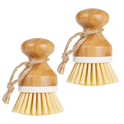 MDesign Juego 2 cepillos bambú fregar platos –