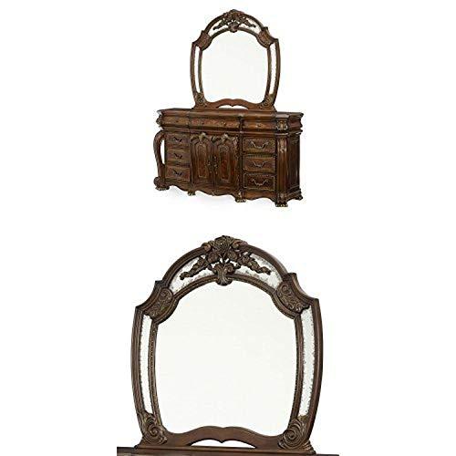 Buy Bargain Michael Amini Oppulente Dresser and Mirror, Sienna Spice
