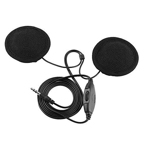 auriculares de casco universal para motocicleta, auriculares estéreo, auricular de llamada, conector de 3.5mm con cable de extensión, para teléfono móvil MP3